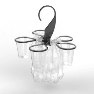 The Original Cupkeeper Festival cup holder with bottels and cups to help you managing waste on your sustainable event